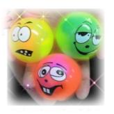 Flashing Funny Face Balls