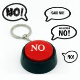 """No"" Talking Button Key Chain"