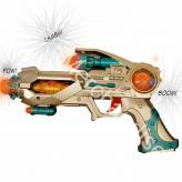 Gold Light Up Toy Space Gun w/ sound