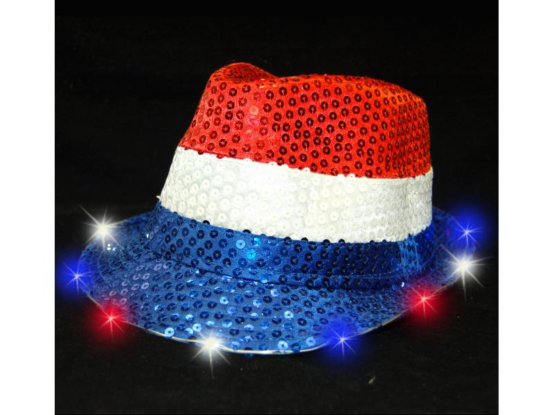 d9fbb8a4ce0 LIGHT UP FEDORA HAT-RWB - 88merchandise.com